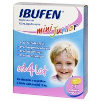 Ibufen Mini Junior 100 mg x 15 kaps.