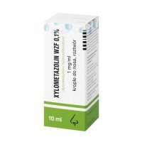 Xylometazolin WZF 0.1%, krople do nosa 10 ml
